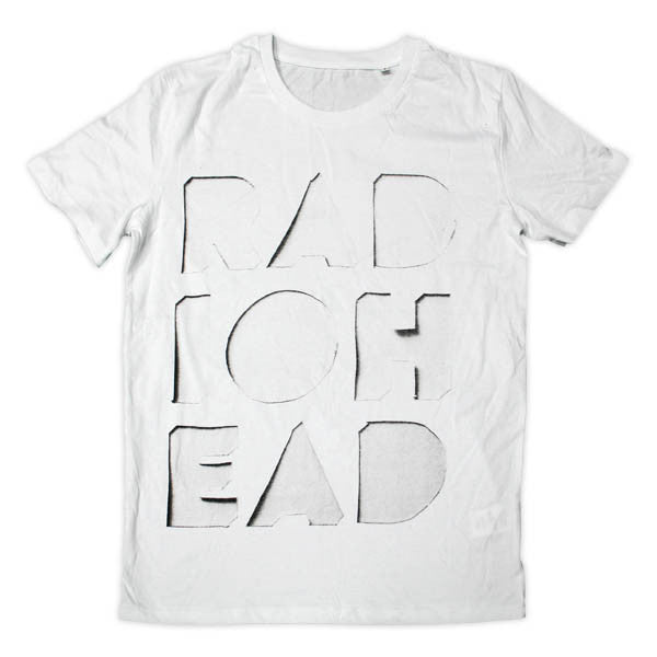 CUT OUT LOGO WHITE T-SHIRT