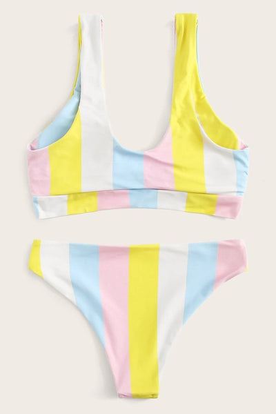 Snow Cone Striped Bikini Set