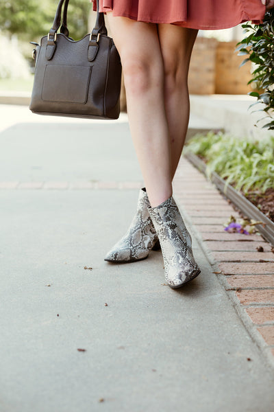 Obsession Snakeskin Booties