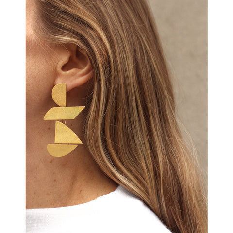 Made of Love Earrings by Jenny Bird in Vermeil Gold