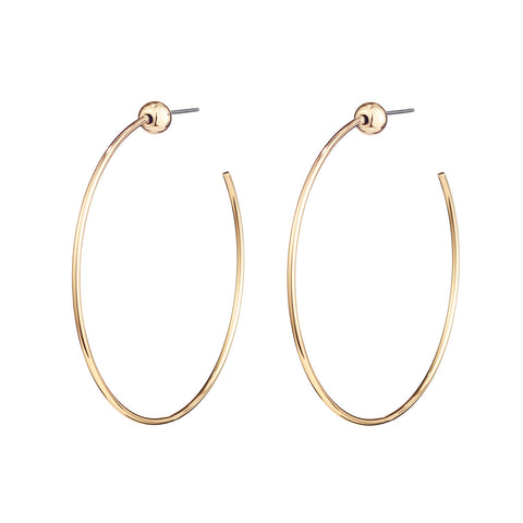 Small Icon Hoops by Jenny Bird in High Polish Gold