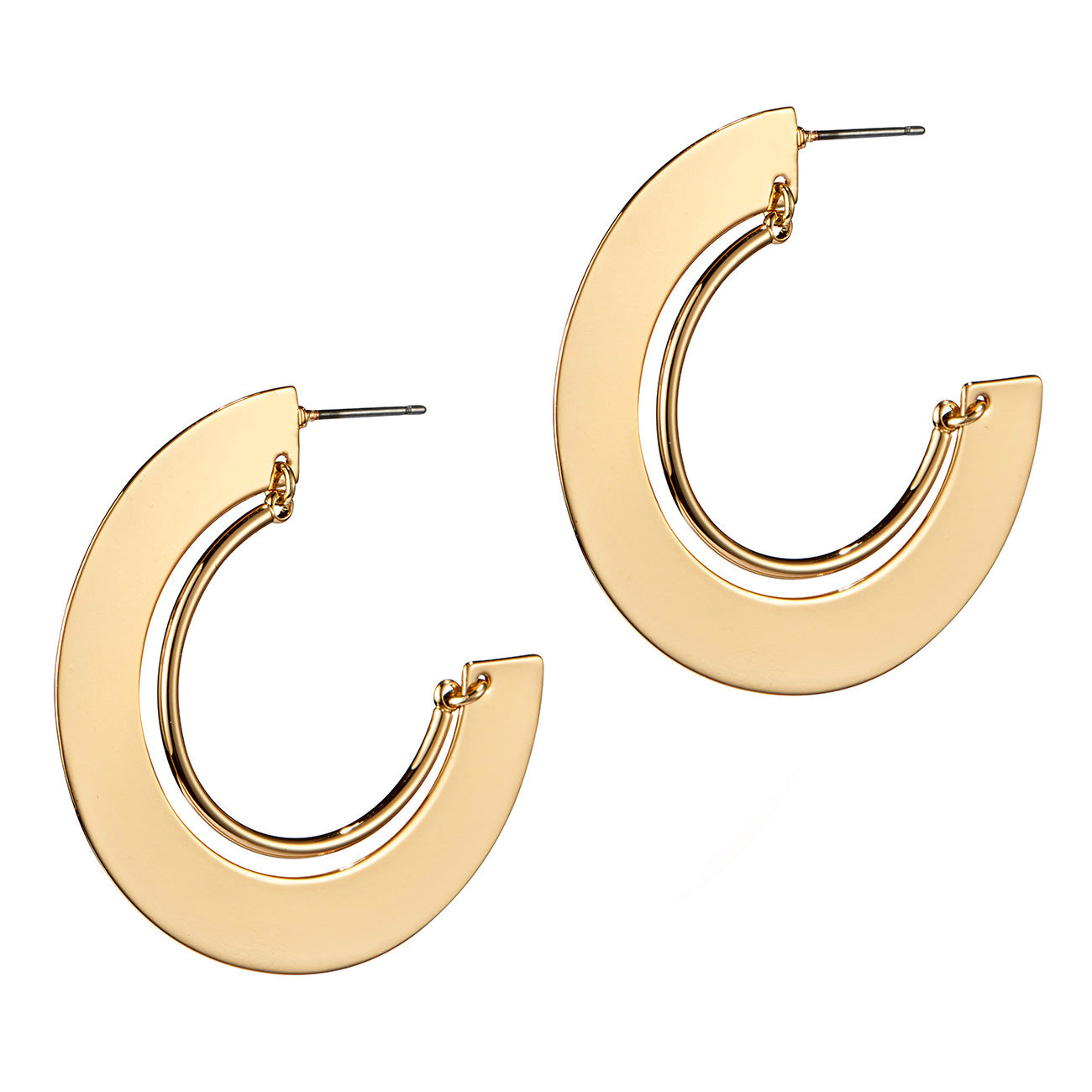 Uma Hoops by Jenny Bird in Gold