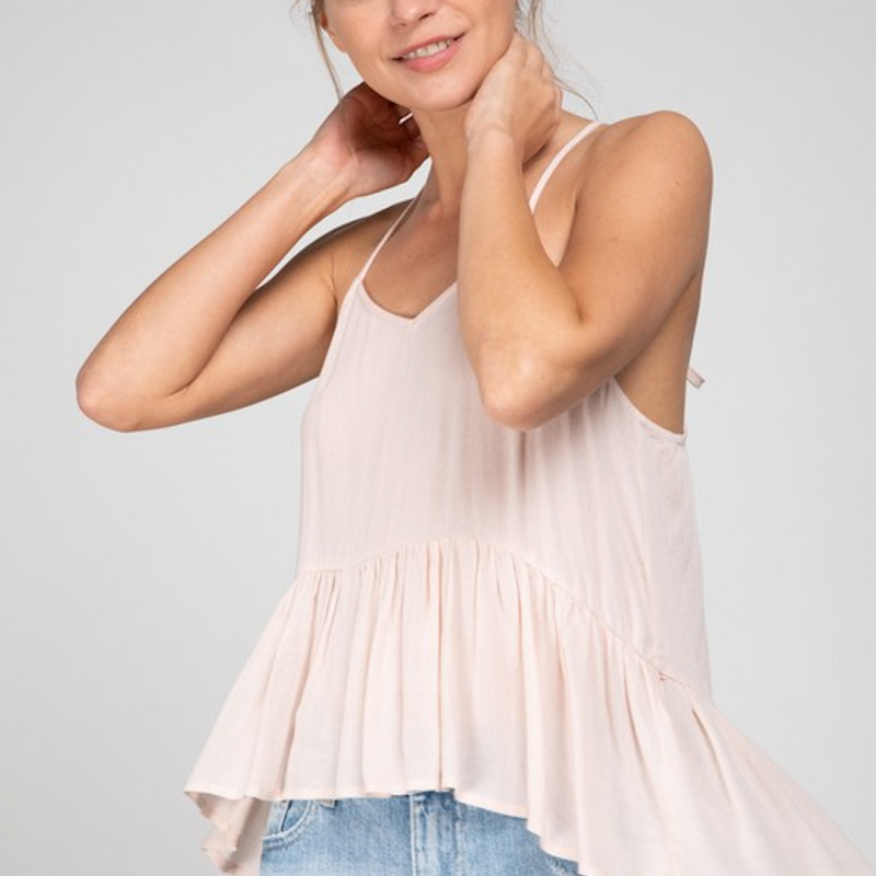 Raser Back Ruffle Top