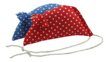 Spotty Pack of 2 Catnip Mice - Red and Blue