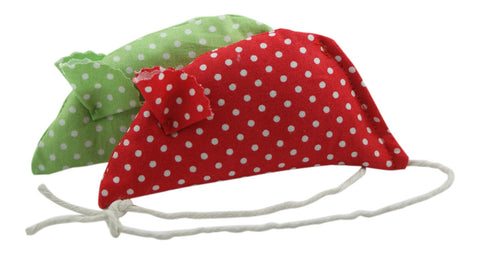 Spotty Pack of 2 Catnip Mice - Red and Green