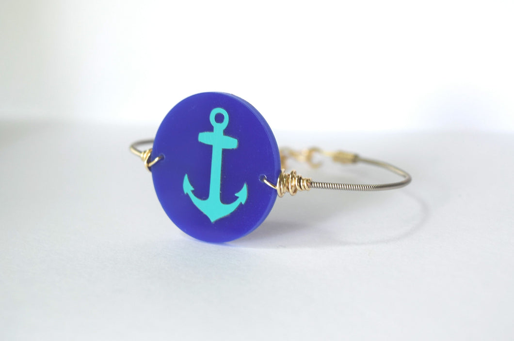 Anchor Guitar String Bangle