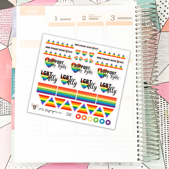 SS02 // LGBT Ally & Support // Planner Stickers