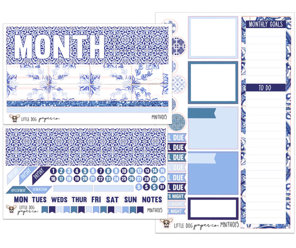 MNTH015 // Monthly Kit // Cool Azul Tiles