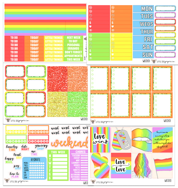 WK0101 // Pride Collection // Planner Stickers