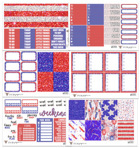WK0103 // Independence Collection // Planner Stickers
