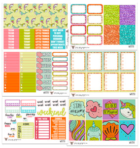 WK050 // Narwhals Collection // Planner Stickers