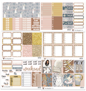 WK060 // Snow Bunny // Planner Stickers