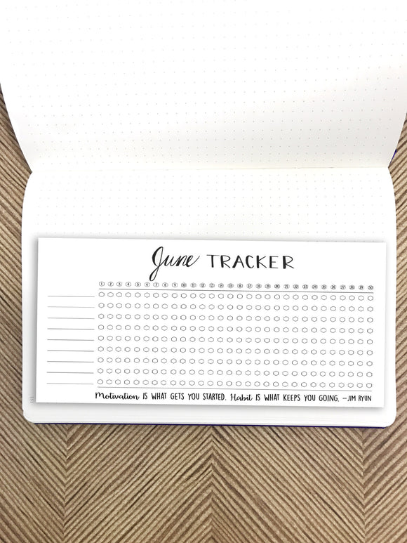 Bullet Journal // June Habit Tracker // Planner Stickers