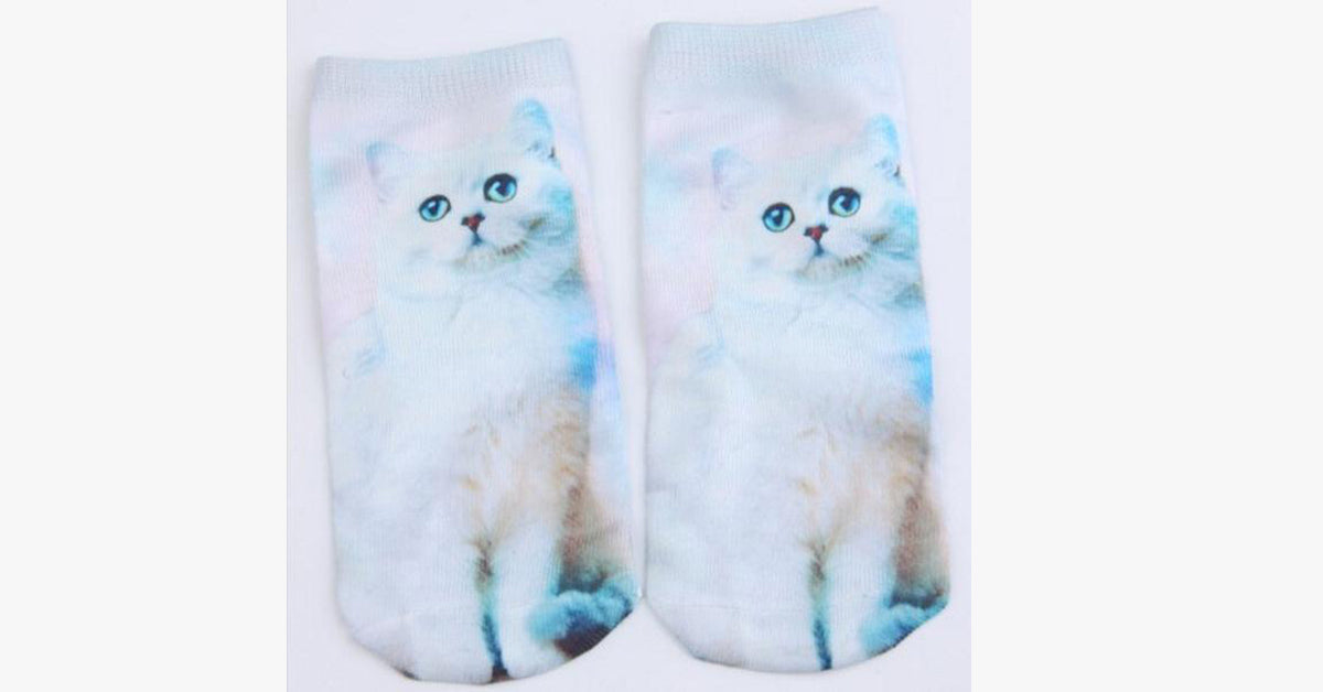 White Color Cat Sock