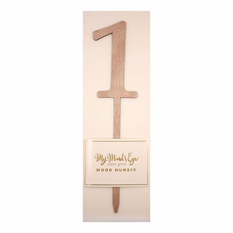 Cake Topper | Wood Number ONE
