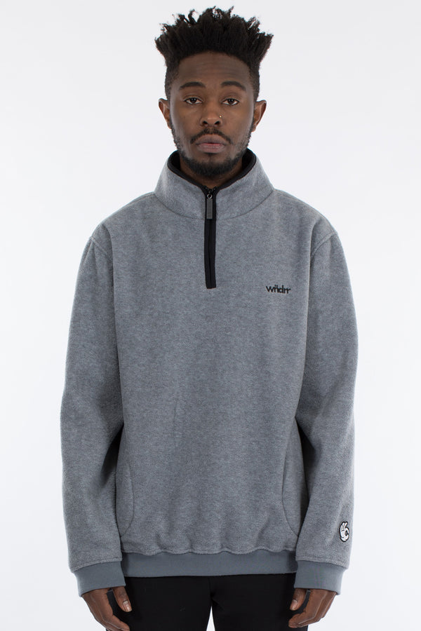 NOZAWA 1/2 ZIP POLAR FLEECE SWEAT - GREY