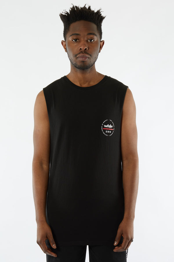 TRANSIT MUSCLE TOP - BLACK