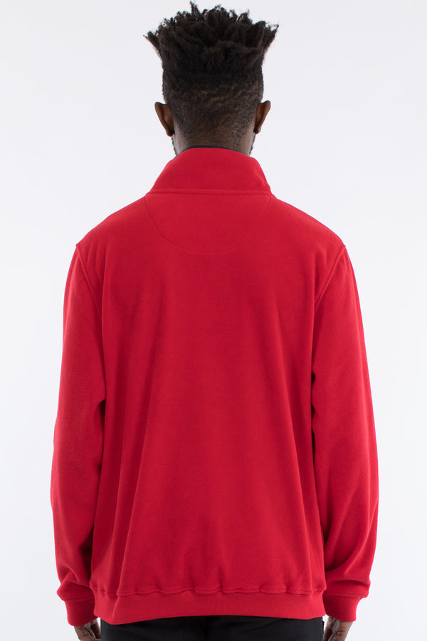 NOZAWA 1/2 ZIP POLAR FLEECE SWEAT - RED