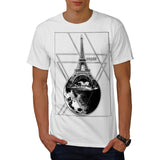 Paris Conquers Moon Mens T-Shirt