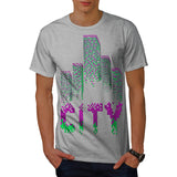 City Cube Pattern Mens T-Shirt