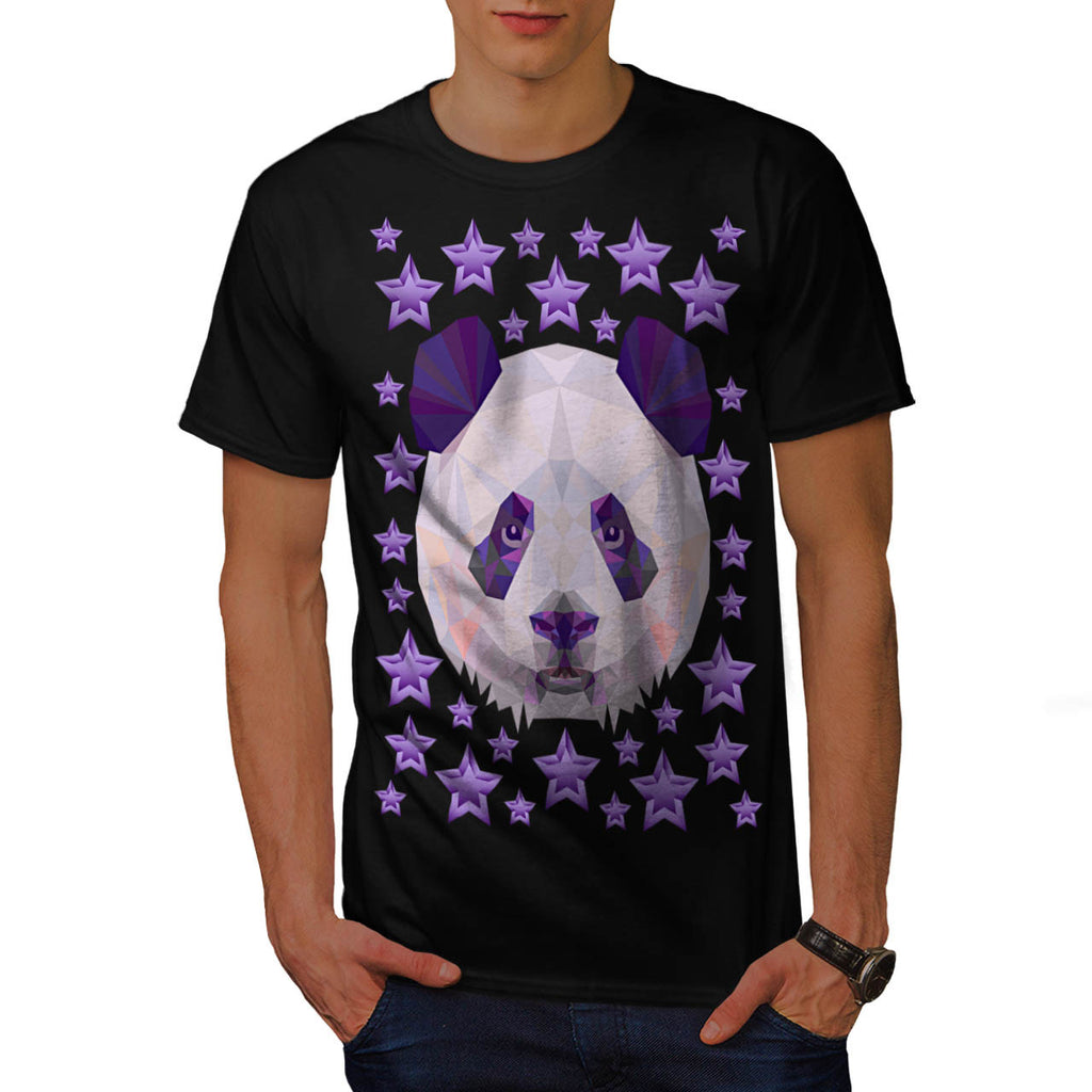 Polygonal Panda Bear Mens T-Shirt