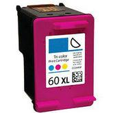 Generic Brand (HP 60XL) Remanufactured Color, High Capacity Ink