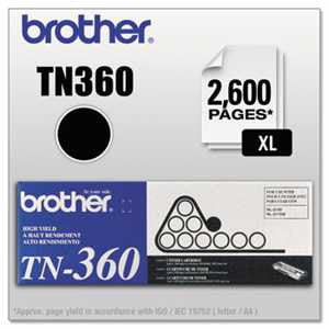 Brother TN360 TN360 High-Yield Toner, Black