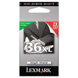 Lexmark 18C2170 18C2170 (36XL) High-Yield Ink, 500 Page-Yield, Black