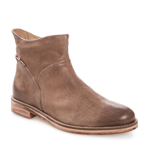 Women's Cait Pebble Brown Leather Zip Up Bootie
