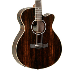 Tanglewood Discovery Super Folk Electro-Acoustic Guitar - Ebony, Natural Gloss