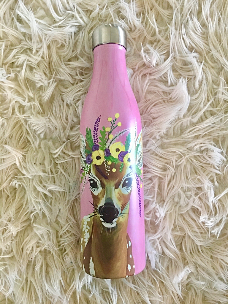 Flower Crown Creatures Journal & Bottle Set - Deer | Gift Set