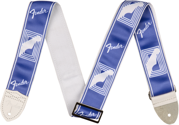 "Fender 2"" CUSTOM COLOR FENDER® MONOGRAMMED STRAPS, Lake Placid Blue"