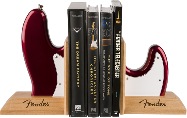 Fender™ Bass Body Bookends Red