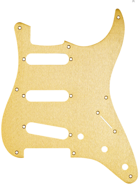 8-Hole '50s Vintage-Style Stratocaster® S/S/S Pickguard Anodized Gold