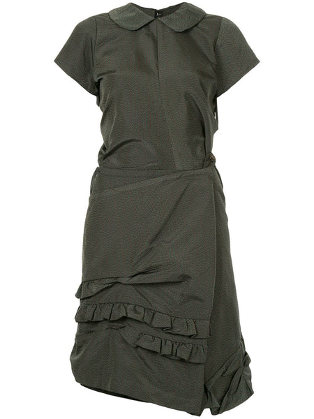 COMME DES GARÇONS striped dissected twisted dress