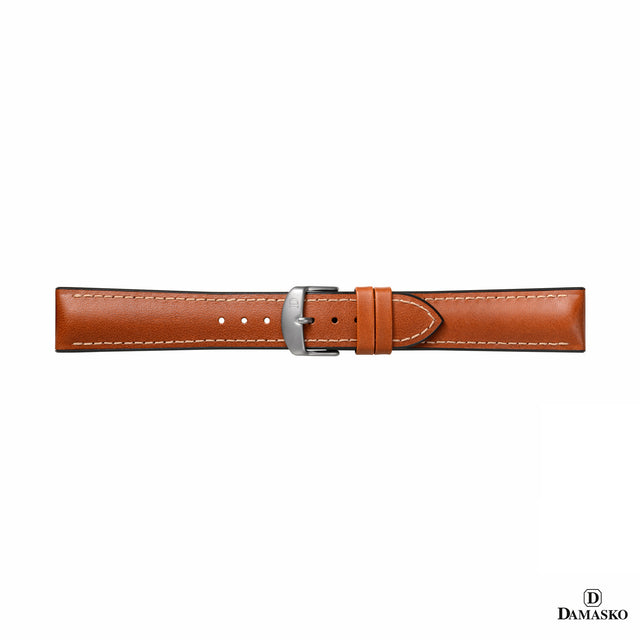 "DAMASKO RUBBER LEATHER STRAP ""JAMES"" - steel buckle - www.toptime.eu"