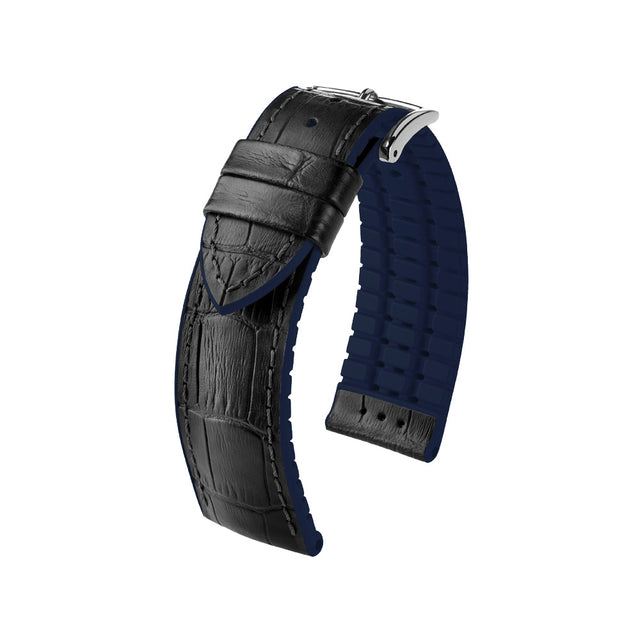 Hirsch Performance Andy - leather-rubber strap - blue - www.toptime.eu