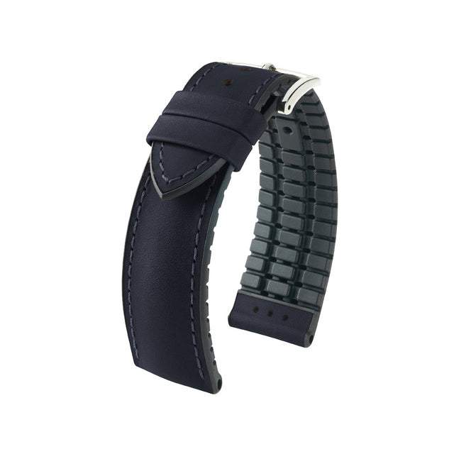 Hirsch Performance James - leather-rubber strap - black - www.toptime.eu