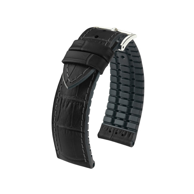 Hirsch Performance Paul - leather-rubber strap - black - www.toptime.eu