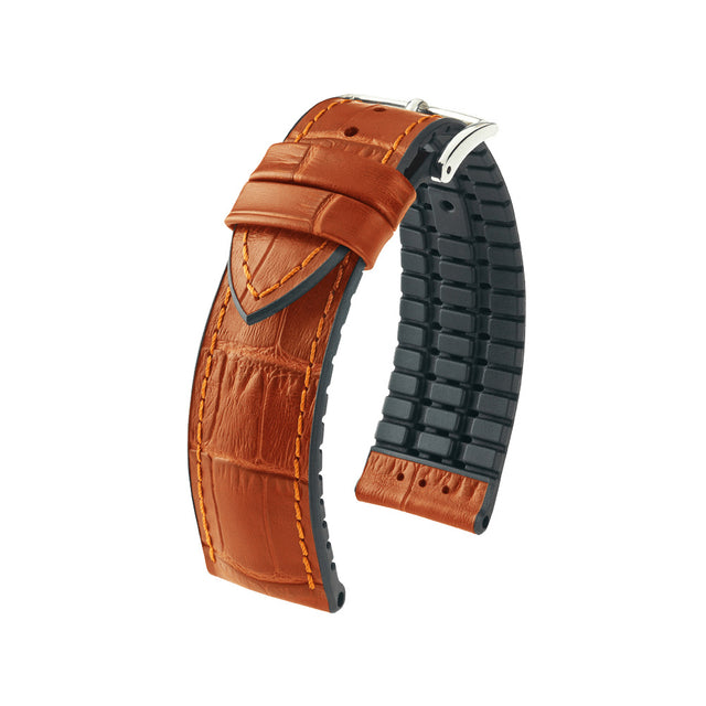 Hirsch Performance Paul - leather-rubber strap - honey - www.toptime.eu