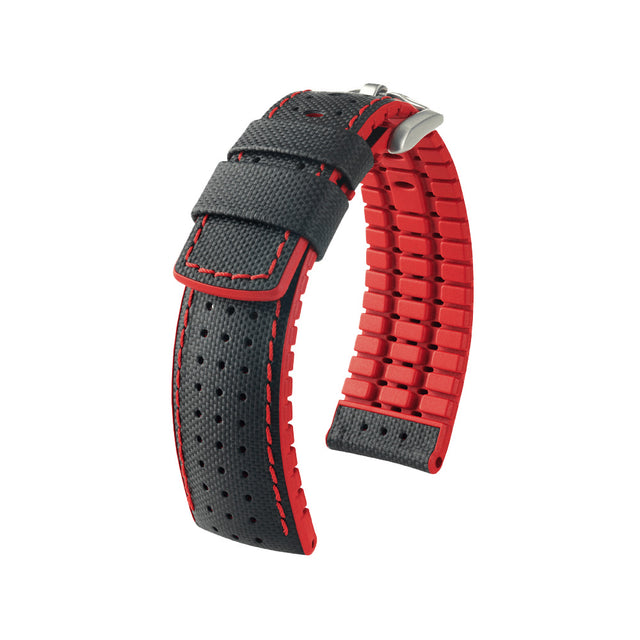 Hirsch Performance Robby - leather-rubber strap - red - www.toptime.eu