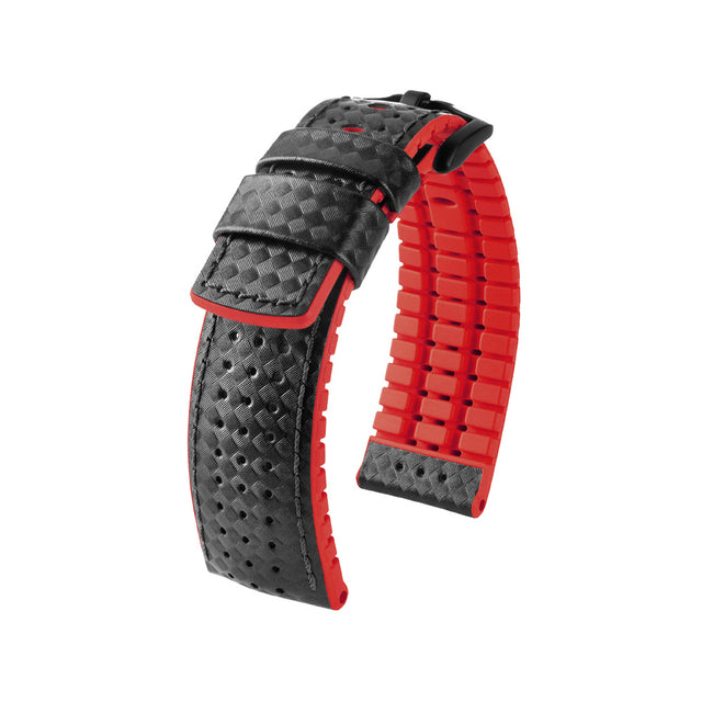 Hirsch Performance Ayrton - leather-rubber strap - red - www.toptime.eu