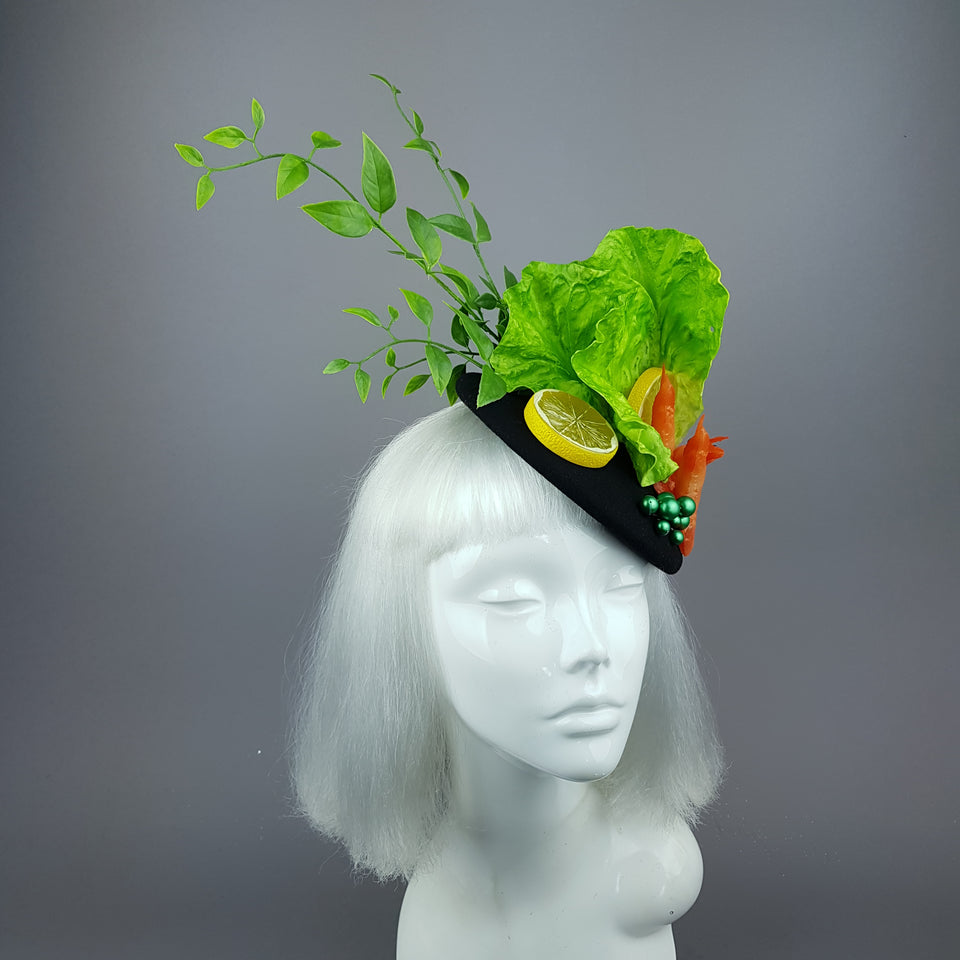 """Crevette"" Prawn & Lemon Salad Fascinator Hat"
