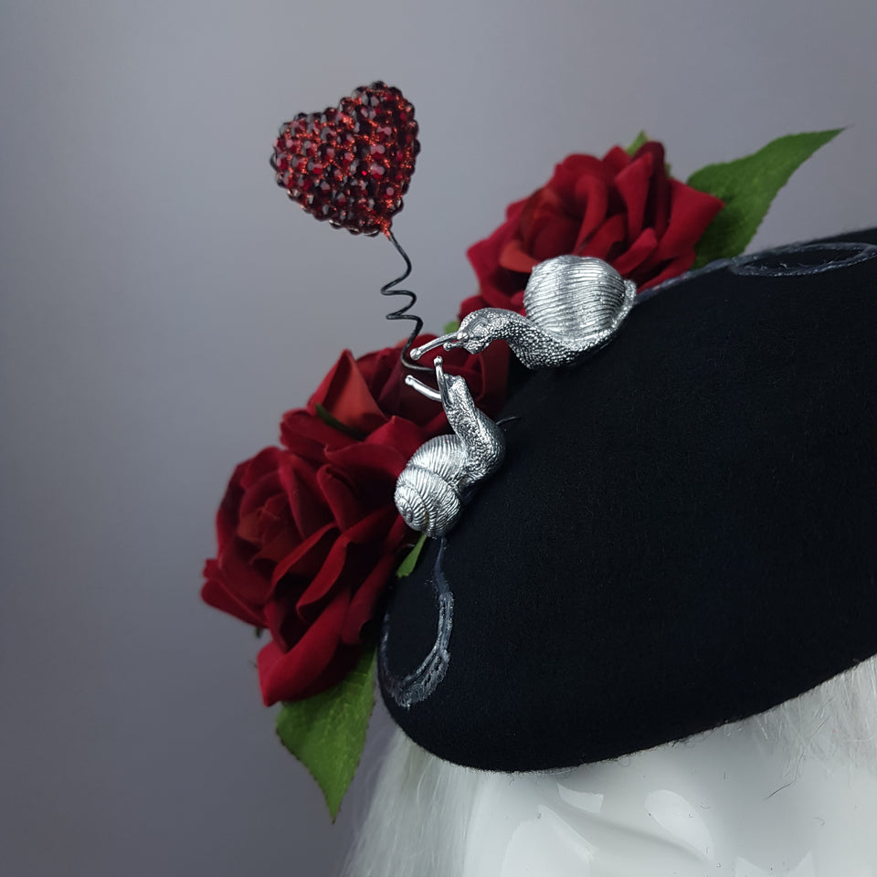 """Smitten"" Snails in Love Fascinator Hat"