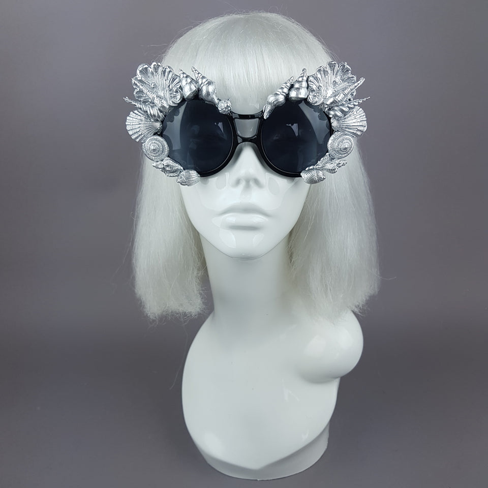 """Siren"" Silver Shell Mermaid Sunglasses"