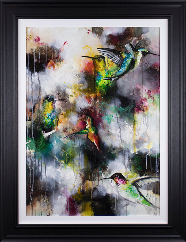 """Divinity"" Botanical Collection by Katy Jade Dobson (framed original oil painting)"