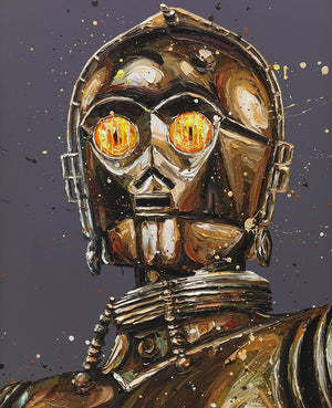 """Let The Wookie Win"" C-3PO / Star Wars by Paul Oz (limited edition)"