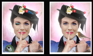 """A Spoonful of Sugar - Mary Poppins"" by JJ Adams (Framed Limited Edition Lenticular Edition)"