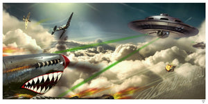 """Brat At At"" (Spitfire & UFO) by JJ Adams (limited edition print) - New Look Art"