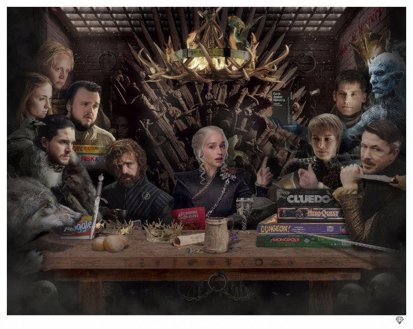 """Board - Game of Thrones"" (Colour) by JJ Adams (limited edition print)"